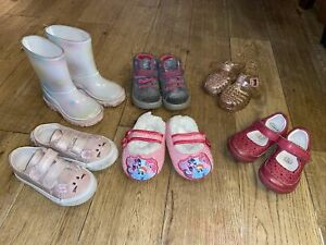 Baby Girl Shoes Bundle Infant Size 4 Wellies Summer Clarks
