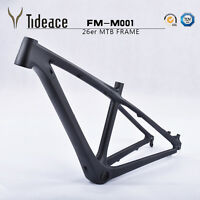 "3K Matte Toray T800 Full Carbon Mountain Cycling Bicycle Frames 26er 14"" Light"