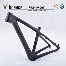 "26er Full Carbon OEM MTB Cadre Vélo 14"" 3K Matte Mountain Bicycle frameset"