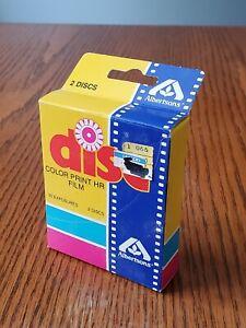 Albertsons, Color Print Disc Film, 2 Discs, 30 Exposures, Exp 2/88, Sealed.