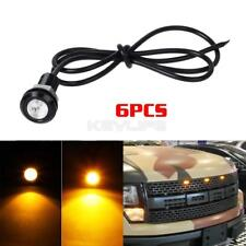 6X Amber LED Car Truck Front Grille Light Kit for Ford SVT Raptor Eagle Eye 12V