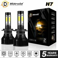 4sides H7 LED Headlight Bulb Kit High Low Beam Fog 6000K Bright White High Power