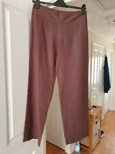 Smart WRAP Brown Trousers, Wide Waistband, Low Rise, Straight Leg, Size 16, VGC