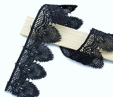 Good quality; Black color;Venise  embroidery lace trim  - price for 1 yard