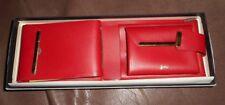 JUSTIN RED Leather BILLFOLD WALLET ~ New! VINTAGE