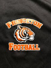Princeton Tigers Football Tee Shirt -Ivy League Champs 10-0 Black Poly Large New