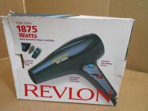 Revlon 1875W Hair Dryer Blue Green Color Model-RV406 ~