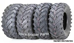 Set of 4 ATV/UTV Tires 26x9-12 26x9x12 Front 26x11-12 26x11x12 Rear 10275/76 Mud