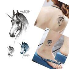 USA 2 PCS HORSE PATTERN TATTOO WOMEN COLORFUL FLASH  TATTOO FOR BODY ART