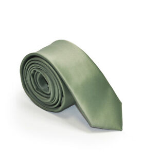 Formal Tailor Sage Green Skinny Tie Wedding Party - Green