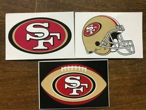 San Francisco 49ers NFL 3 Pack Sticker Lot Helmet, Oval Logo, Logo
