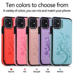 Case Cover For iPhone 12 Pro 11 XS Max XR X 8 7 6 Magnetic Leather Wallet Phone