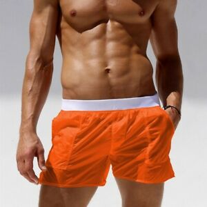 Men Sexy Beach Shorts Transparent Trunks Breathable Quick-dry Swim Wear Boxers