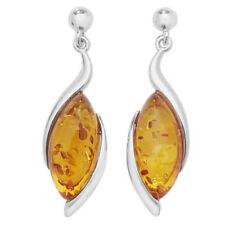Pendientes de joyería con gemas naranja