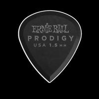 Ernie Ball 1.5mm Black Mini Prodigy Picks 6-Pack