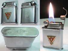 Briquet Ancien à l'Essence [> METEOR Avec Insigne <] Petrol Lighter  Feuerzeug