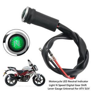 Black Motorcycle LED Neutral Indicator Light N Speed Digital Gear Shift Lever