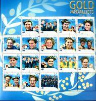 Australian Stamps: Athens Olympics 2004 Sheet, Ian Thorpe, Anna Meares, Hackett