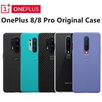 Original Official For OnePlus 8 / 8 Pro Case Karbon Bumper Sandstone Nylon Back