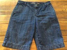 Liz Claiborne Women's Shorts Cotton Denim Audra Bermuda Size 6 Petite (A1848)