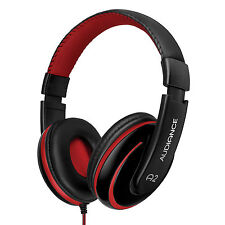 Audiance A2 Premium Over Ear Stereo Headphones Black & Red (3.5mm Audio Jack)