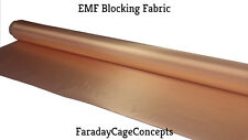 "EMF Blocking RF  RFID Shielding Conductive Copper Fabric  1' Length X 43"" Width"
