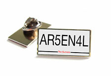 ARSENAL NUMBER PLATE STYLE LAPEL PIN BADGE TIE TACK GIFT