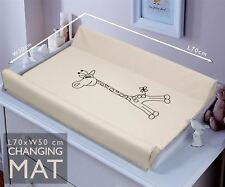 BABY SOFT BASE CHANGING MAT UNIT WATERPROOF CHANGER WITH RAISED EDGES - Giraffe