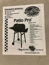 CharGriller Patio Pro Owner's Manual Model 1515