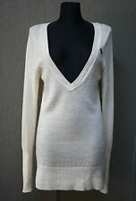 ABERCROMBIE & FITCH Damen Kleid L Dress Wolle creme +2