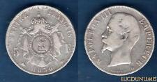2nd Empire, 1852-1870 – 5 Francs Napoléon III, tete nue 1856 D (2) Lyon TB – TTB