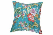 Floral Kantha Pillows Indian Outdoor Cushion Cover Decorative Throw Pillow Cases