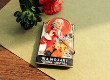 W.A Mozart, Vienna, Austria Tourist Souvenir 3D Resin Fridge Magnet Craft Gift
