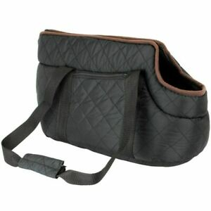 Black Quilted Pet Dog Puppy Sling Tote Cat Carrier Shoulder Bag Pouch Machine Wa