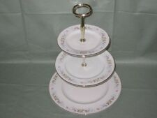 Mayfair Alpine Bone China 3-Tier Hostess Cake Plate Stand