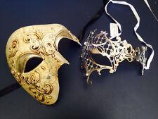 Silver Venetian Crystal Masquerade Prom Party Phantom Opear Eye Mask female male