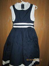Oscar de la Renta Navy Blue Dress Size 6Y