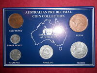 1963 AUSTRALIAN Pre Decimal 6 coin set IN SPECIAL CARD (very Nice)A PERFECT GIFT