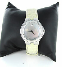 LADIES MOVADO SPORT EDITION 1881 DIAMOND BEZEL LIZARD BEIGE LEATHER BAND 0150799