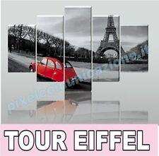 QUADRO MODERNO TELA TOUR EIFFEL STAMPA 150X90 5PZ ARREDO PARIS