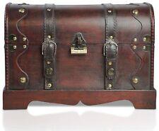 BRYNNBERG San Diego XL - Piratenschatztruhe mit Schloss 40x23x27cm braun