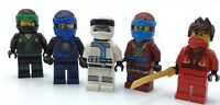 LEGO LOT OF 5 NINJAGO MINIFIGURES LLOYD COLE KAI ZANE AYA FIGS