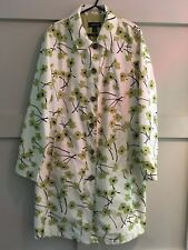Ladies Land's End floral print mac - roomy size 12 - packable with bag
