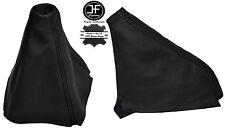 BLACK STITCHING LEATHER GEAR & HANDBRAKE GAITER FITS AUDI 100 C4 1991-1994