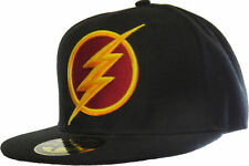 The Flash DC Comics 3D Logo Black Snapback Cap NEW