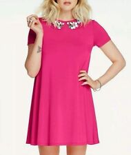 BRAND NEW FEARNE COTTON PINK EMBELLISHED NECK SWING DRESS SIZE UK 8 BRAND NEW