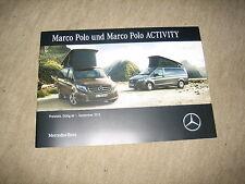 Mercedes V-Klasse Marco Polo Preisliste price list von 01.09.2015, 40 Seiten