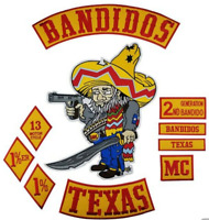 Bandidos Patches Biker Vest Iron-On Jacket