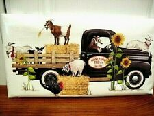 "Mary Lake Thompson ""Billy Goat Farm Truck"" Flour Sack Towel"