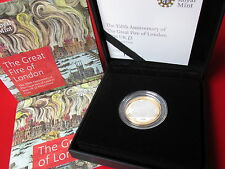 MINT CONDITION The Great Fire Of London 2016 UK £2 Silver Proof Coin COA  Cased